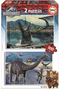Los mejores puzzles de Jurassic World y Jurassic Park - Puzzle de Jurassic World de 2x100 de Educa