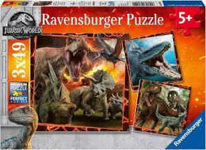 Los mejores puzzles de Jurassic World y Jurassic Park - Puzzle de Jurassic World en de 3x49 de Ravensburger