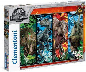 Los mejores puzzles de Jurassic World y Jurassic Park - Puzzle de dinosaurios de Jurassic World de 104 de Clementoni