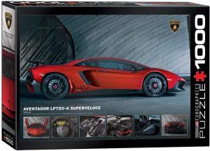 Los mejores puzzles de Lamborghini - Puzzle de Lamborghini Aventador 7504 SV de 1000 piezas de Eurographics