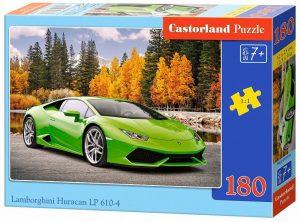 Los mejores puzzles de Lamborghini - Puzzle de Lamborghini Huracan LP 610-4 de 180 piezas de Castorland