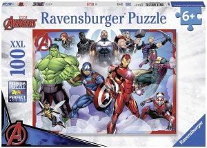 Los mejores puzzles de Marvel - Puzzle de héroes de Marvel de 100 piezas de Ravensburger - Puzzles de personajes de Marvel