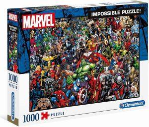 Los mejores puzzles de Marvel - Puzzle de héroes de Marvel de 1000 piezas de Clementoni Imposible - Puzzles de personajes de Marvel