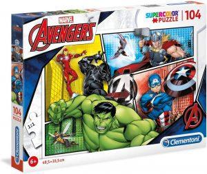 Los mejores puzzles de Marvel - Puzzle de los Vengadores 2 de 104 piezas de Clementoni - Puzzles de personajes de Marvel