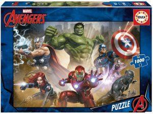Los mejores puzzles de Marvel - Puzzle de los Vengadores de 1000 piezas de Educa - Puzzles de personajes de Marvel