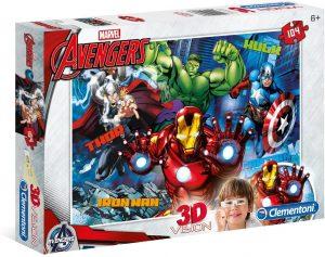 Los mejores puzzles de Marvel - Puzzle de los Vengadores de 104 piezas de Clementoni - Puzzles de personajes de Marvel