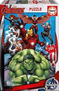 Los mejores puzzles de Marvel - Puzzle de los Vengadores de 200 piezas de Educa - Puzzles de personajes de Marvel