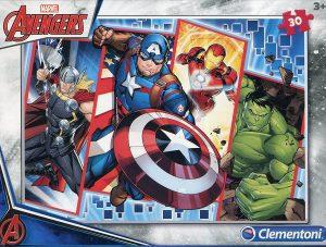 Los mejores puzzles de Marvel - Puzzle de los Vengadores de 30 piezas de Clementoni - Puzzles de personajes de Marvel