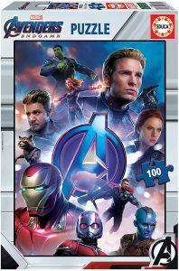 Los mejores puzzles de Marvel - Puzzle de los Vengadores de Endgame de 100 piezas de Educa - Puzzles de personajes de Marvel