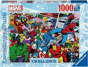 Los mejores puzzles de Marvel - Puzzle de los héroes de Marvel de 1000 piezas de Challenge de Ravensburger - Puzzles de personajes de Marvel
