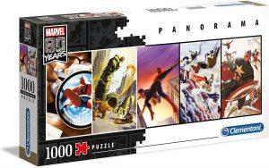 Los mejores puzzles de Marvel - Puzzle de los héroes de Marvel de 1000 piezas de Clementoni Panorama - Puzzles de personajes de Marvel
