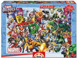 Los mejores puzzles de Marvel - Puzzle de los héroes de Marvel de 1000 piezas de Educa - Puzzles de personajes de Marvel