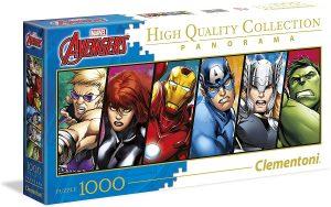Los mejores puzzles de Marvel - Puzzle de panorama de los Vengadores originales de 1000 piezas de Clementoni - Puzzles de personajes de Marvel