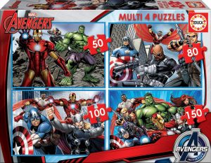 Los mejores puzzles de Marvel - Puzzle progresivo de los Vengadores - Puzzles de personajes de Marvel