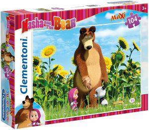 Los mejores puzzles de Masha y el Oso - Puzzle de Masha y el Oso de 104 piezas de Clementoni con panda