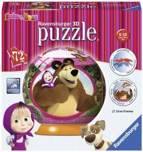 Los mejores puzzles de Masha y el Oso - Puzzle de Masha y el Oso en 3D de 72 piezas