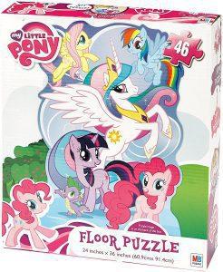 Los mejores puzzles de My Little Pony - Mi Pequeño Pony - Puzzle de suelo de My Little Pony de 46 piezas de MB Puzzle