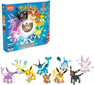 Los mejores puzzles de Pokemon - Puzzle de Eevee y sus evoluciones de Mega Construx
