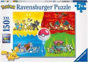 Los mejores puzzles de Pokemon - Puzzle de Pokemon XXL por tipos de 150 piezas de Ravensburger