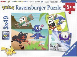 Los mejores puzzles de Pokemon - Puzzle de Pokemon de 3x49 piezas de Ravensburger