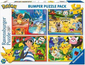 Los mejores puzzles de Pokemon - Puzzle de Pokemon de 4x100 piezas de Ravensburger