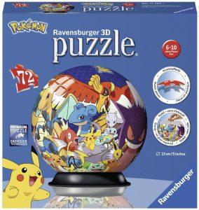 Los mejores puzzles de Pokemon - Puzzle de Pokemon en 3D de 72 piezas de Ravensburger