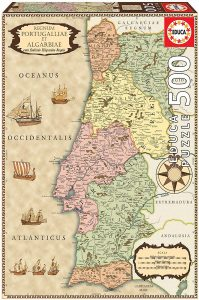 Los mejores puzzles de Portugal - Puzzle de Portugal clásico de 500 piezas de Educa