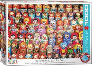 Los mejores puzzles de Rusia - Puzzle de muñecas Matrioshka de 1000 piezas de Eurographics