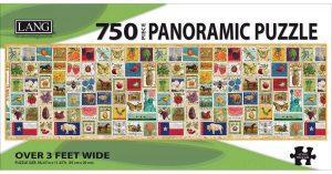Los mejores puzzles de Sellos - Stamps - Puzzle de panorámica de sellos de 750 piezas de Lang