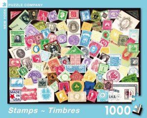 Los mejores puzzles de Sellos - Stamps - Puzzle de sellos de 1000 piezas de New York Puzzle Company