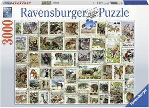 Los mejores puzzles de Sellos - Stamps - Puzzle de sellos de animales de 3000 piezas de Ravensburger