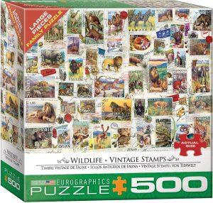 Los mejores puzzles de Sellos - Stamps - Puzzle de sellos de animales de 500 piezas de Eurographics