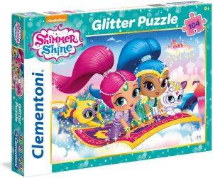 Los mejores puzzles de Shimmer y Shine - Puzzle de Shimmer y Shine Glitter de 104 piezas de Clementoni