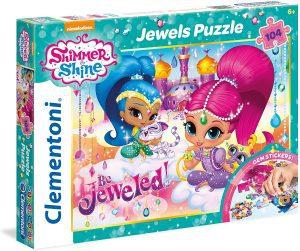 Los mejores puzzles de Shimmer y Shine - Puzzle de Shimmer y Shine Jewel de 104 piezas de Clementoni