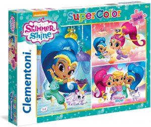 Los mejores puzzles de Shimmer y Shine - Puzzle de Shimmer y Shine de 3x48 piezas de Clementoni