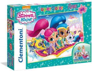 Los mejores puzzles de Shimmer y Shine - Puzzle de Shimmer y Shine gigante de suelo de 40 piezas de Clementoni