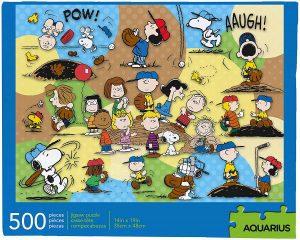 Los mejores puzzles de Snoopy de Peanuts - Puzzle de Snoopy de Baseball de 500 piezas de Aquarius