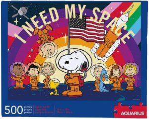 Los mejores puzzles de Snoopy de Peanuts - Puzzle de Snoopy del espacio de 500 piezas de Aquarius