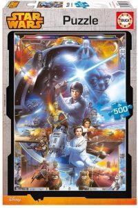 Los mejores puzzles de Star Wars - Puzzle de Star Wars 20 Aniversario de 500 piezas de Educa - Personajes del Universo de Star Wars