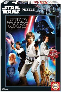 Los mejores puzzles de Star Wars - Puzzle de Star Wars Una Nueva Esperanza de 1500 piezas de Educa - Personajes del Universo de Star Wars