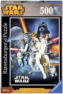 Los mejores puzzles de Star Wars - Puzzle de Star Wars Una Nueva Esperanza de 500 piezas de Ravensburger - Personajes del Universo de Star Wars