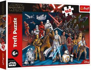 Los mejores puzzles de Star Wars - Puzzle de Star Wars de 160 piezas de Trefl - Personajes del Universo de Star Wars