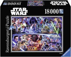 Los mejores puzzles de Star Wars - Puzzle de Star Wars de 18000 piezas de Ravensburger - Personajes del Universo de Star Wars