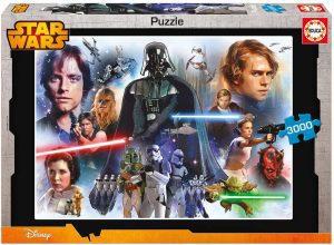 Los mejores puzzles de Star Wars - Puzzle de Star Wars de 3000 piezas de personajes - Personajes del Universo de Star Wars