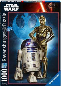 Los mejores puzzles de Star Wars - Puzzle de Star Wars de C-3PO y R2-D2 de 1000 piezas de Ravensburger - Personajes del Universo de Star Wars