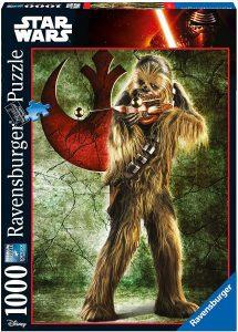 Los mejores puzzles de Star Wars - Puzzle de Star Wars de Chewbacca de 1000 piezas de Ravensburger - Personajes del Universo de Star Wars
