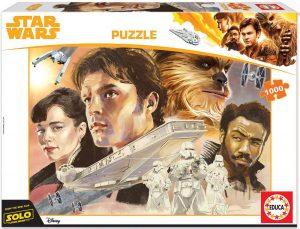 Los mejores puzzles de Star Wars - Puzzle de Star Wars de Han Solo de 1000 piezas de Educa - Personajes del Universo de Star Wars
