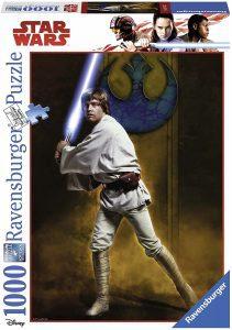 Los mejores puzzles de Star Wars - Puzzle de Star Wars de Luke Skywalker de 1000 piezas de Ravensburger - Personajes del Universo de Star Wars