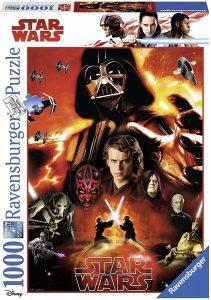 Los mejores puzzles de Star Wars - Puzzle de Star Wars de Precuelas de 1000 piezas de Ravensburger - Personajes del Universo de Star Wars