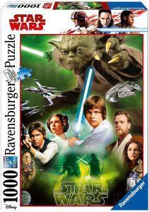 Los mejores puzzles de Star Wars - Puzzle de Star Wars de Precuelas y Trilogía Original de 1000 piezas de Ravensburger - Personajes del Universo de Star Wars